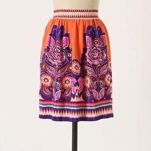 {Anthro} Summery Silk Skirt